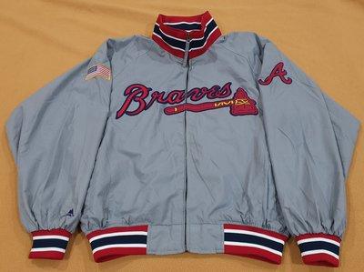 MLB Majestic Atlanta Braves Jacket 亞特蘭大 勇士隊 大聯盟 球員版 實戰 棒球 外套