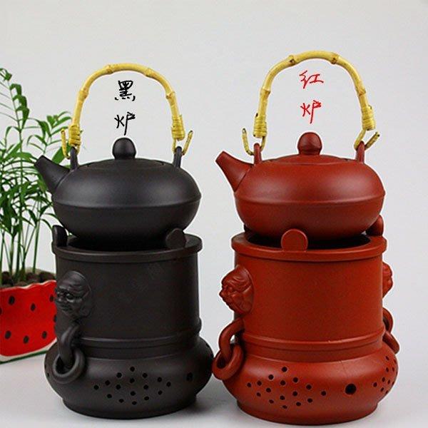 5Cgo【茗道】含稅會員有優惠 36782194802 陶瓷功夫茶具套裝配件紫砂提梁壺煮茶器泡茶壺酒精茶爐炭爐陶然爐