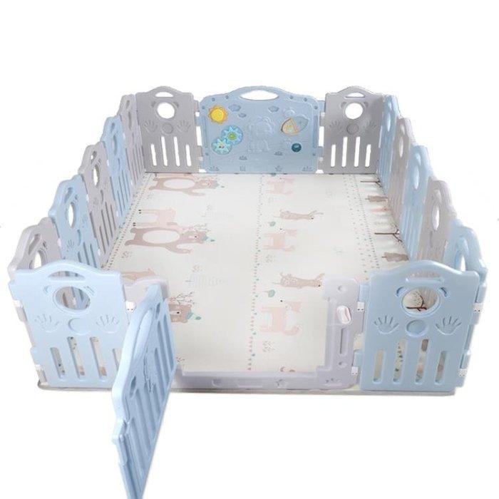 寶寶圍欄爬行學步柵欄家用兒童游戲護欄嬰兒防護欄室內安全可摺疊FA