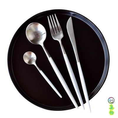 (免運)INS風LEON西餐餐具刀叉勺美食擺拍餐具不銹鋼歐式氣質牛排刀叉