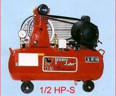 ╭☆優質五金☆╮寶馬 皮帶式空壓機附1/2HP單相馬達-36L