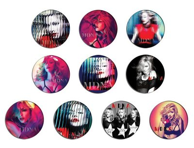 現貨 MADONNA Mdna pinback BADGE SET 襟章 徽章 (一套10個)