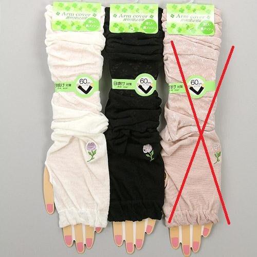 ◎Life Sense◎【ARM COVER】日系風格花柄刺繡涼感防曬袖套 長手臂套 抗UV 接觸涼感