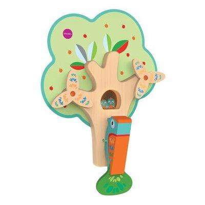 新加坡 Oribel-Vertiplay創意壁貼玩具-Busy Woodpecker 啄木鳥醫生