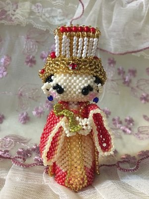 串珠 大頭娃娃 媽祖 擺飾/可加吊飾或鑰㔭圈