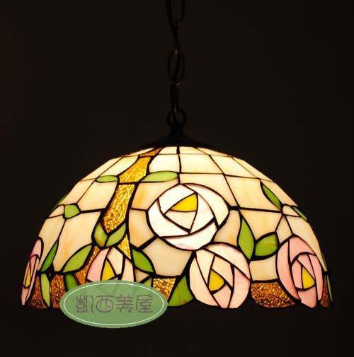 凱西美屋 12寸手工製作蒂芬尼玫瑰吊燈 餐廳咖啡廳 帝凡尼 鄉村風 田園風 第凡內