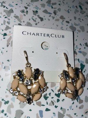 Charter Club 水晶鑽耳環