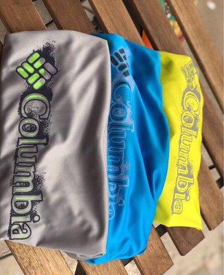 全新 盒裝 哥倫比亞 Columbia 排汗 速乾 防曬 戶外 短袖 T恤 灰色/籃色出清中