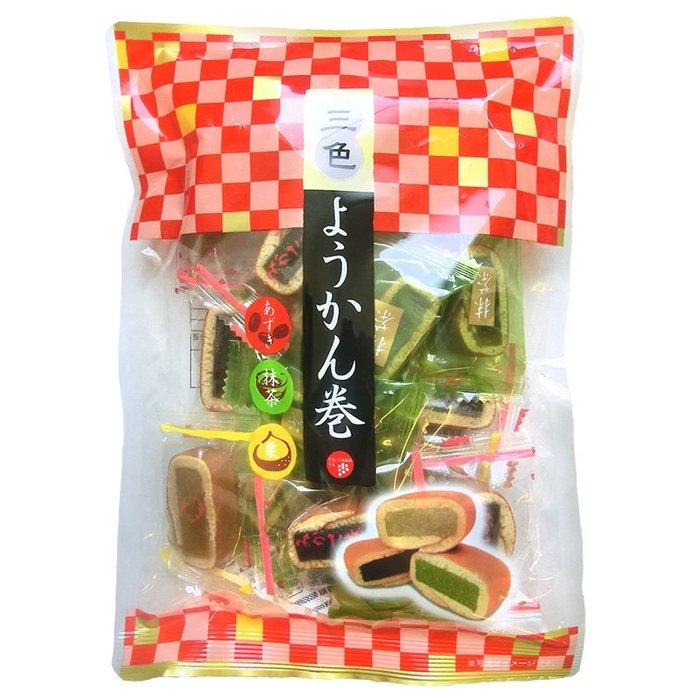 +東瀛go+ 津山屋 三色羊羹捲-栗子/咖啡/紅豆風味 和菓子 日式點心 日式甜點 日本進口 伴手禮 半生果子 拜拜