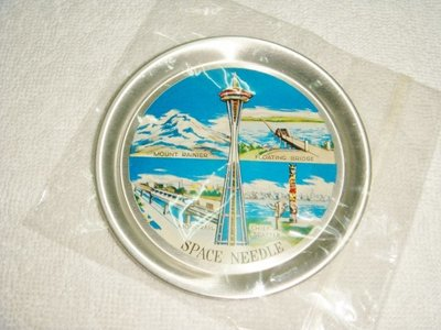 SPACE NEEDLE 西雅圖 紀念小盤