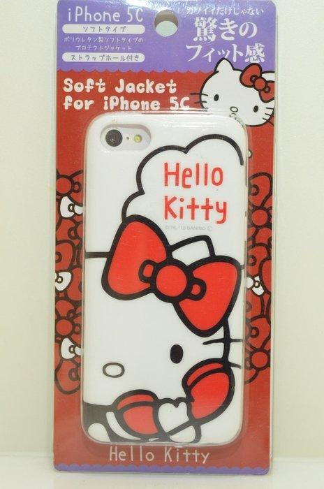 尼德斯Nydus~* 日本限定販售 Hello Kitty 凱蒂貓 TPU軟殼 手機殼 保護殼 iPhone5C 5C