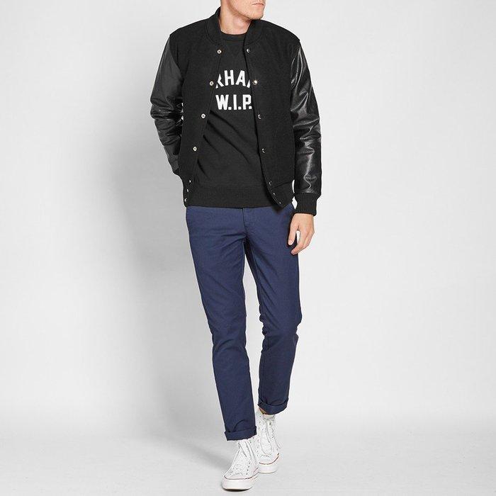 MKI Varsity Wool Leather Jacket黑色羊毛真皮袖棒球外套S號ASOS Nike
