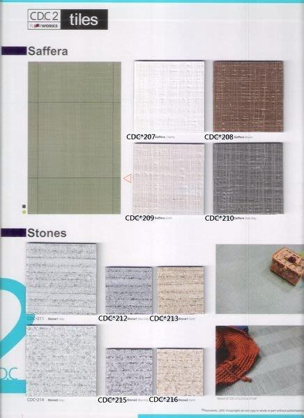 時尚塑膠地板賴桑~ CDC2系列~方塊花色塑膠地板2.5mm連工帶料$1600元起(訂製品設計款)
