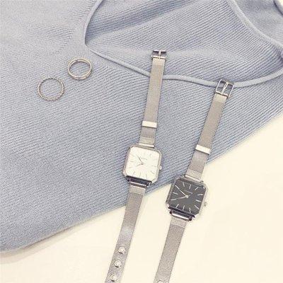 日和生活館 CHIC簡約冷淡風手錶女氣質防水INS復古潮流時尚文藝方形女款大氣S686