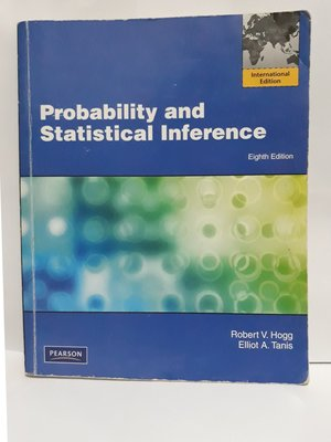 【大學統計學用書】Probability and Statistical Inference|Robert V.Hogg