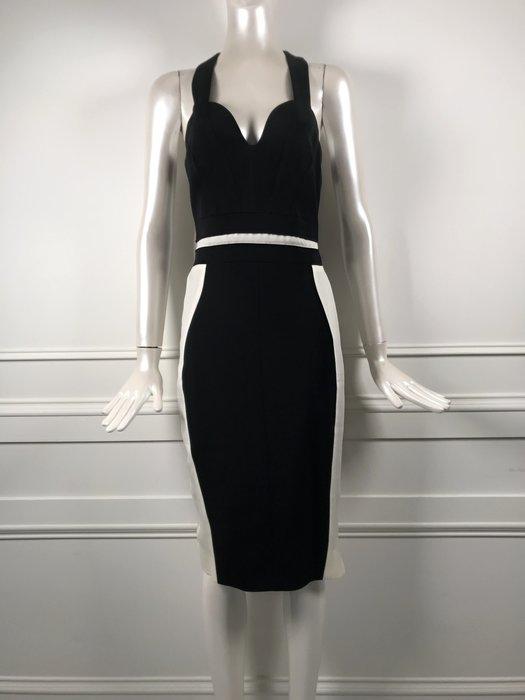 [我是寶琪] 侯佩岑二手商品 Antonio Berardi 黑白拚色洋裝