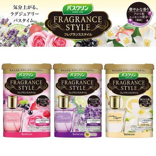 【JPGO】預購-日本製 巴斯克林 Fragrance style 奢華香水入浴劑 600g~875.882.899