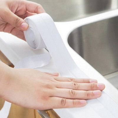 ☜shop go☞  防塵 膠條 防水膠帶 防黴 防潮 浴室 門縫 密封貼水槽 自黏 防汙條 邊條【Q247-2】