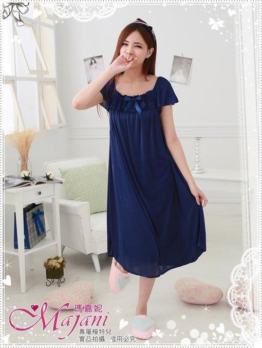 [瑪嘉妮Majani]日系中大尺碼睡衣-巴黎甜心(寶藍) 寬鬆 舒適 居家 特價299 現貨 可超取刷卡 jc-023