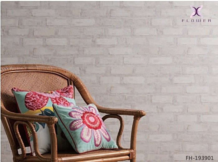 【夏法羅 窗藝】日本進口 做舊白磚 斑駁文化磚 文化石 法式 鄉村風 工業風 仿真仿建材壁紙 FH-193901