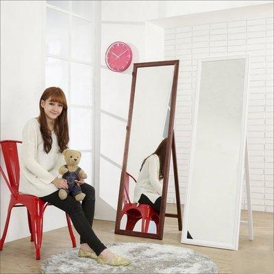 書房 玄關 【家具先生】W-K-MR153F-WA 造型實木框立掛兩用穿衣鏡(高159*47.5公分)壁鏡/掛鏡/化妝鏡