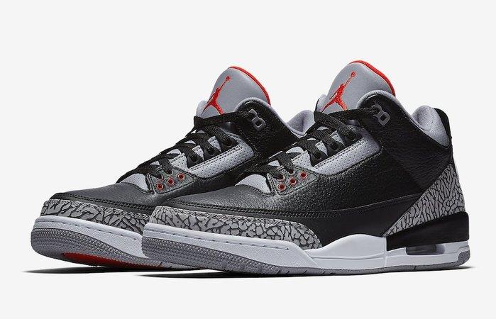 沃皮斯§ Air Jordan 3 OG GS Black Cement  黑水泥 大童鞋 女鞋 854261-001