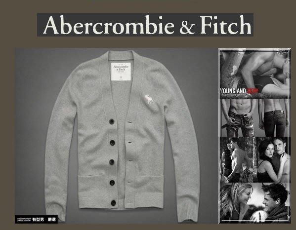 有型男~ A&F Abercrombie&Fitch 聖誕旗艦店大麋鹿 MASON MOUNTAIN 開襟羊毛外套