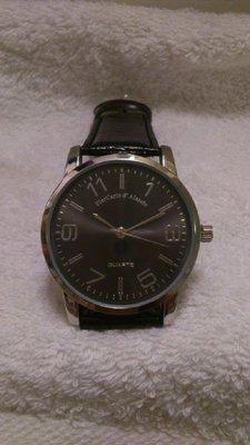 PierCarlo d' Alessio 真皮錶帶黑色錶面手錶(全新)