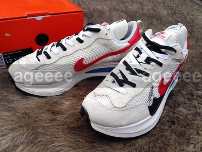 OAK Nike x Sacai VaporWaffle Royal Fuchsia CV1363-100 白藍紅 解構