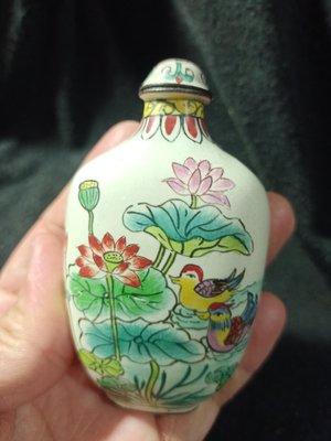 寶貝精品@@2250起老瓷器銅胎鼻煙壺~乾隆年製