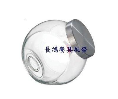 *~ 長鴻餐具~*3000cc潘朵拉罐006A-Q2X2玻璃糖罐 斜放玻璃罐~現貨+預購