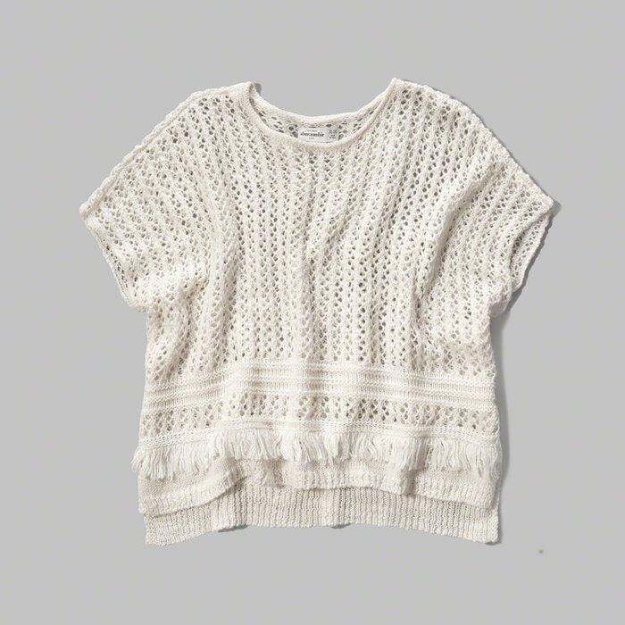 【天普小棧】a&f abercrombie patterned poncho sweater毛衣披風斗篷KIDS XL