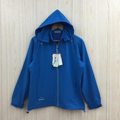 【愛莎&嵐】Aiken Sport 男 藍色連帽反光彈性外套 / S  (全新可拆帽) 1080222