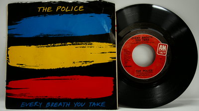 45 rpm 7吋單曲 The Police【Every Breath You Take】1983 美國首版
