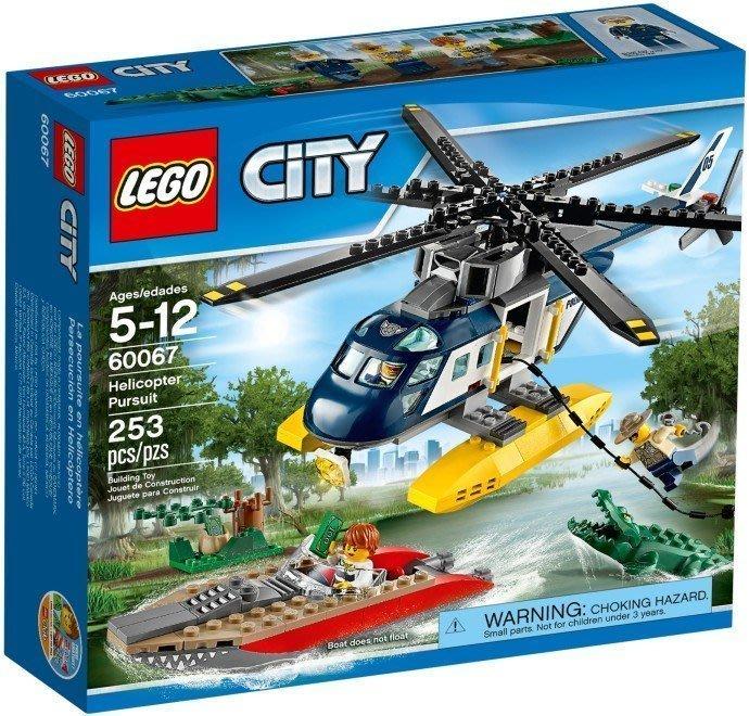 二手  LEGO 城市系列 CITY 60067 追蹤直升機  現貨最後一組