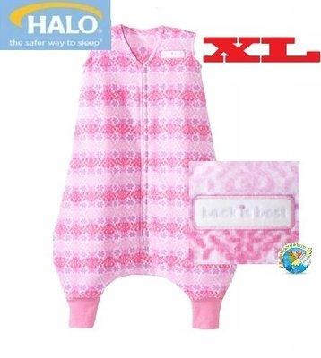 X.H. Baby【美國HALO】SleepSack Early Walker 防踢被 背心 睡袋 秋冬刷毛 粉紅幾何
