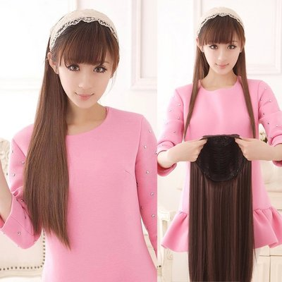 長70公分靈氣唯美氣質長直髮【MW018】仿真半罩式假髮-耐熱纖維☆雙兒網☆