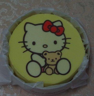 六吋 手工 重乳酪  起司 kitty 凱蒂貓   生日 相片 卡通  造型  蛋糕