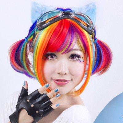 (21-24色區)COSPLAY 角色扮演 跨年表演 彩色BOBO短髮 耐熱假髮【MB291】☆雙兒網☆