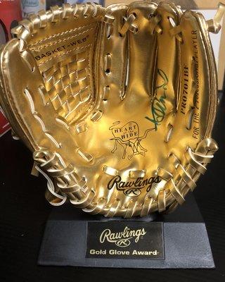 鈴木一朗 Ichiro Rawlings MLB 指定手套品牌 紀念款金手套親簽 JSA鑑定