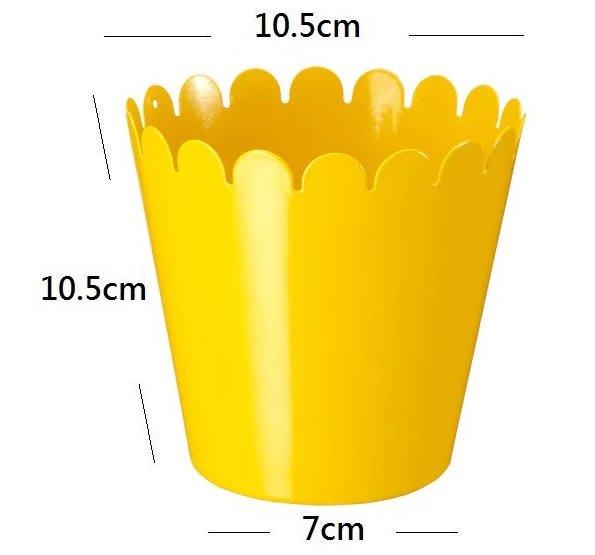 ☆創意生活精品☆IKEA SOMMAR 花盆/桌上垃圾桶/收納桶(黃色)