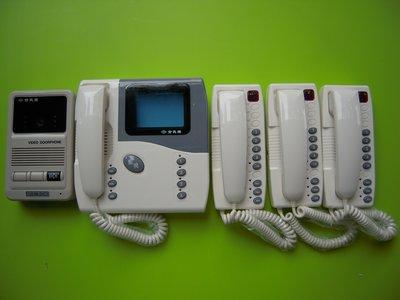 俞氏牌 180-RBKC 單戶彩色影像對講機(1影像話機3普通分機套裝) 原廠代理全新品保證一年 04-22010101