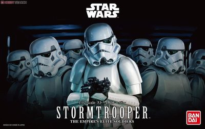 【鋼普拉】現貨BANDAI 星際大戰 1/12 STAR WARS Storm Trooper 暴風兵 白兵 帝國風暴兵