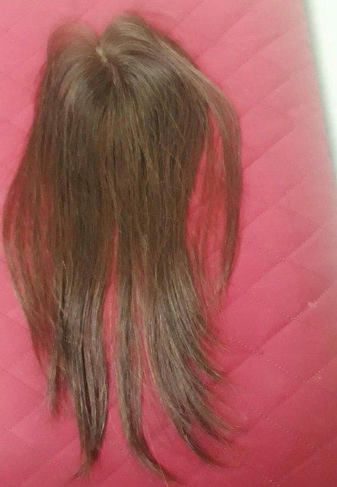 紅褐色自然真髮髮片