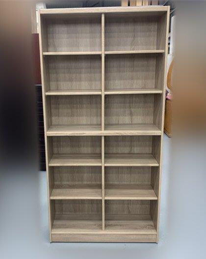 台中二手家具賣場 西屯樂居中古傢俱館 EA225-5BA*全新白橡12格書櫃 書架*櫥櫃 客廳桌椅 酒櫃 展示架 餐桌椅