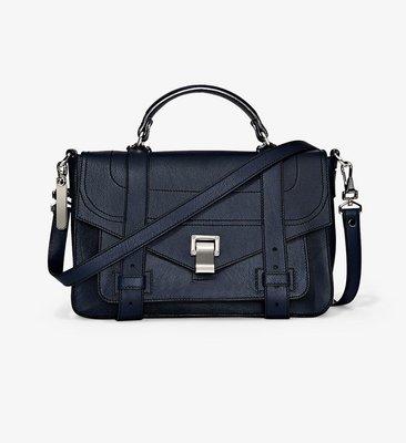 Proenza Schouler PS1 Medium Bag 中型山羊皮學院包 深藍色