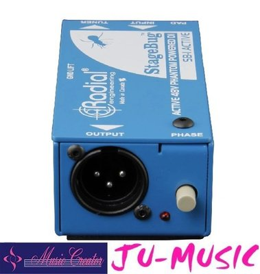 造韻樂器音響- JU-MUSIC - StageBug SB-1 DI 48V幻象供電 無須電池『公司貨,免運費』