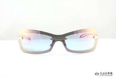 【台南名店久必大眼鏡】EXALT GLAMOUR 義大利太陽眼鏡 包覆型彎度 全面特價中 DUDU C4 (金)