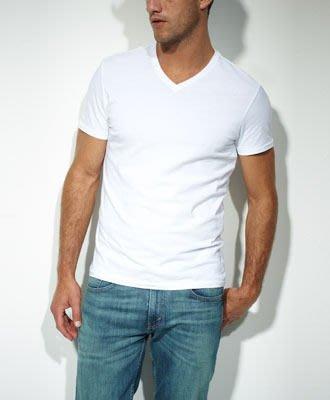 【紐約范特西】 Levis Slim Fit Tees V領 素T 內衣 素色 白 二件 829830004