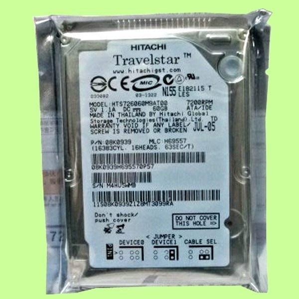 5Cgo【權宇】日立HITACHI 60G 60GB IDE/PATA 8m 2.5吋 7200轉 舊筆電最佳升級 含稅